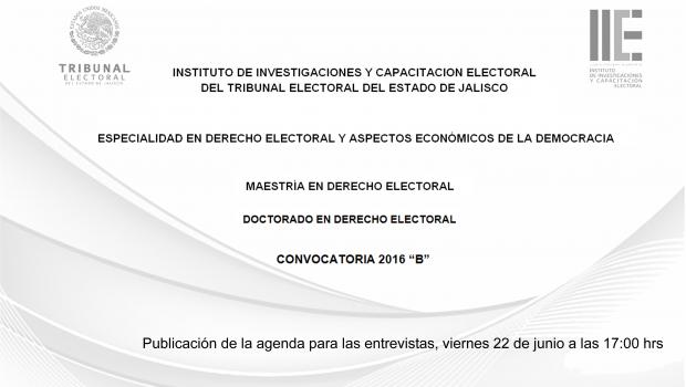 """Convocatorias a Posgrados 2016 """"B"""""""