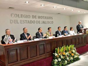 Firma del Convenio de Colaboración celebrado entre el INE JALISCO y el Colegio de Notarios de Jalisco