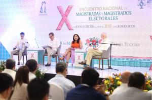 En el X Encuentro Nacional de Magistrados y Magistradas Electorales
