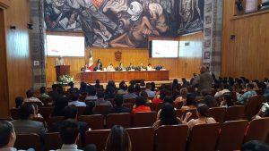 """En la presentación del libro """"Jóvenes y Violencia en Jalisco. Un enfoque multidisciplinario. Tomo I"""", en Paraninfo Enrique Díaz de León"""
