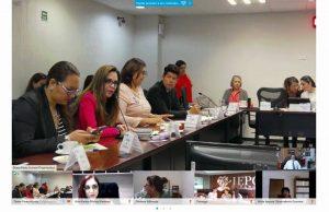 El Magdo. José de Jesús Angulo Aguirre participando en la sesión de trabajo de los Observatorios Locales de Participación Política de las Mujeres