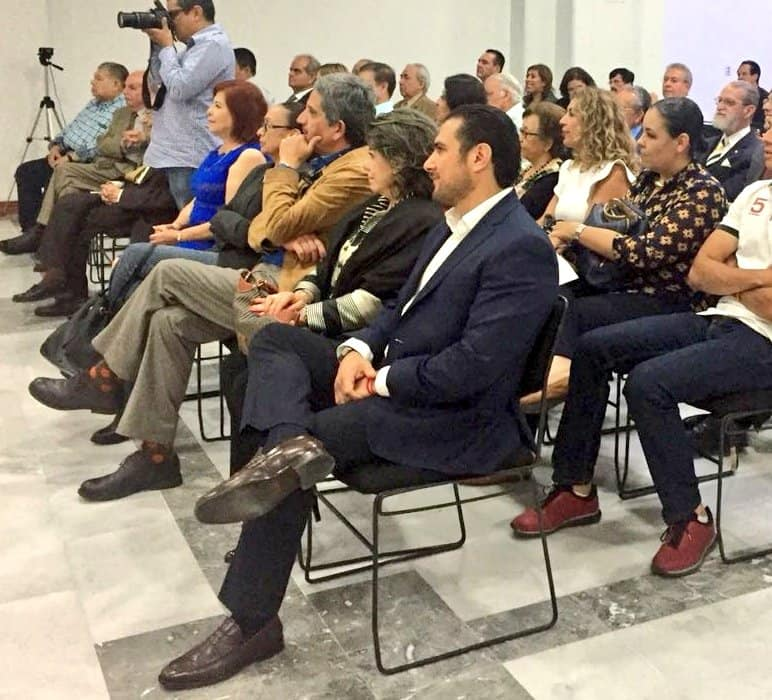 """El Magistrado Presidente Rodrigo Moreno Trujillo en el Colegio de Notarios con el tema: """"Resoluciones recientes de la SCJN en temas notariales"""" impartido por la Dra. Margarita Beatriz Luna Ramos"""