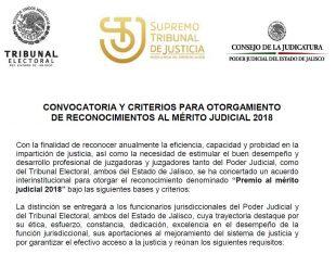 Reconocimientos al mérito judicial 2018