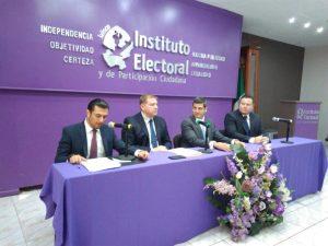 Rueda de prensa sobre coordinación interinstitucional para atender delitos electorales