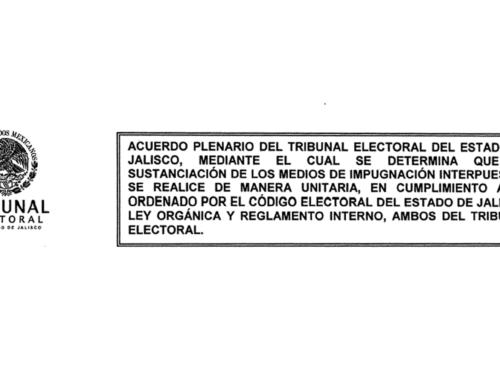 Acuerdo Plenario del Tribunal Electoral del Estado de Jalisco