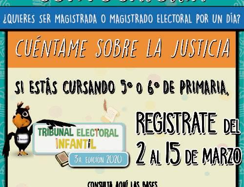 Convocatoria para integrar el Tribunal Electoral Infantil 2020